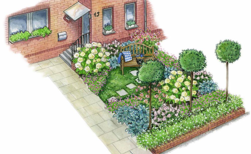 Zum Nachpflanzen: Schöner Empfang vor dem Haus