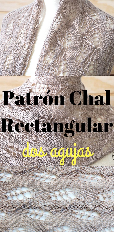 Cómo hacer una Mantilla-Estola-Chal rectangular de Encaje ...