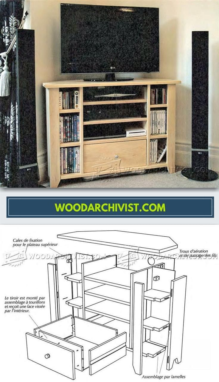 Corner Tv Stand Plans Furniture Plans And Projects  # Table Pour Tv