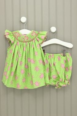 Amanda Remembered 18M Smocked Turtle Dress with Bloomers
