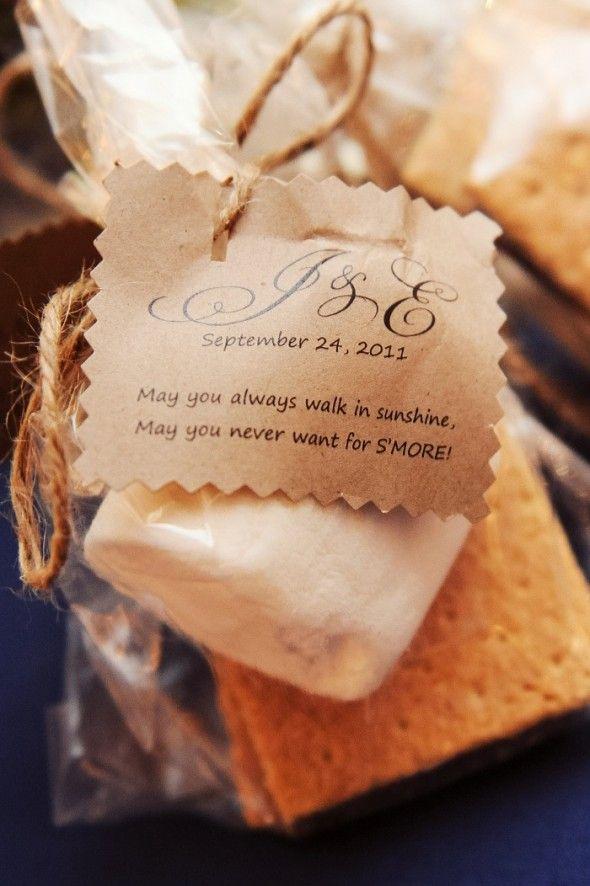 Great message with S'more kit...Outdoor North Carolina Wedding: Elizabeth + Jason