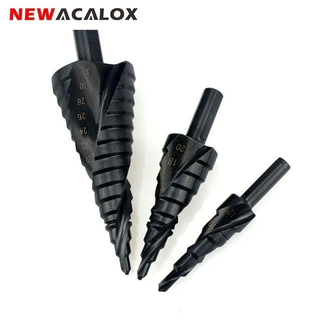 Cobalt Step Drill Bit Ser Steel Spiral Nitrogen High-Speed for Shank Hole Cutter
