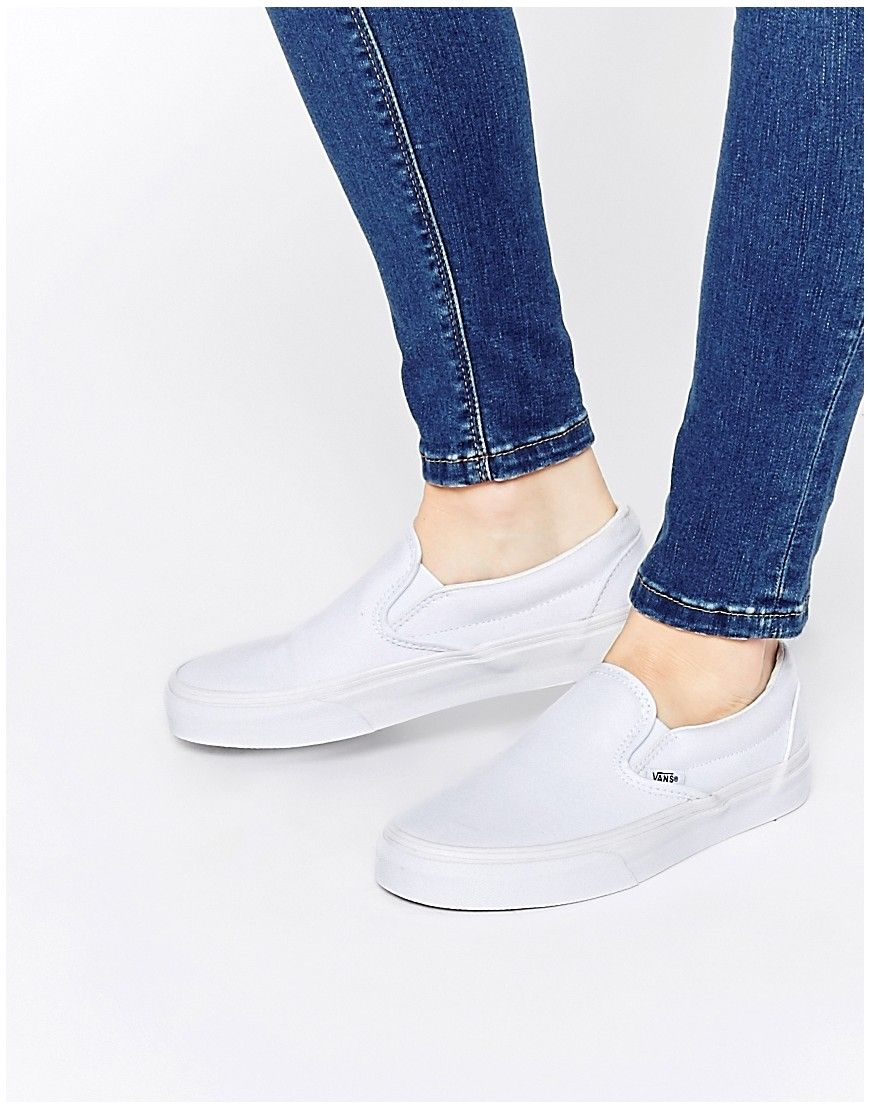 Buy Women Shoes / Vans True White Classic Slip On Trainers
