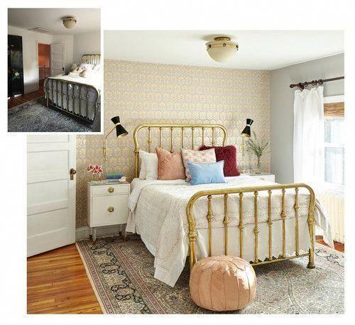 vintage-inspired bedroom decor. Bedroom makeover on a budget ...