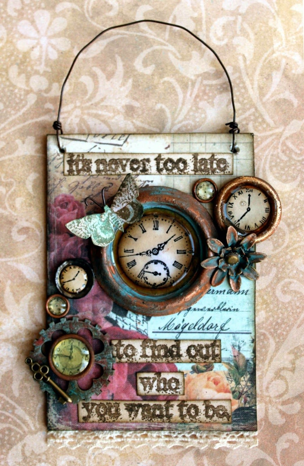 Laurart: Junk in your Trunk for Our Creative corner with a mixed media piece; Mar 2015