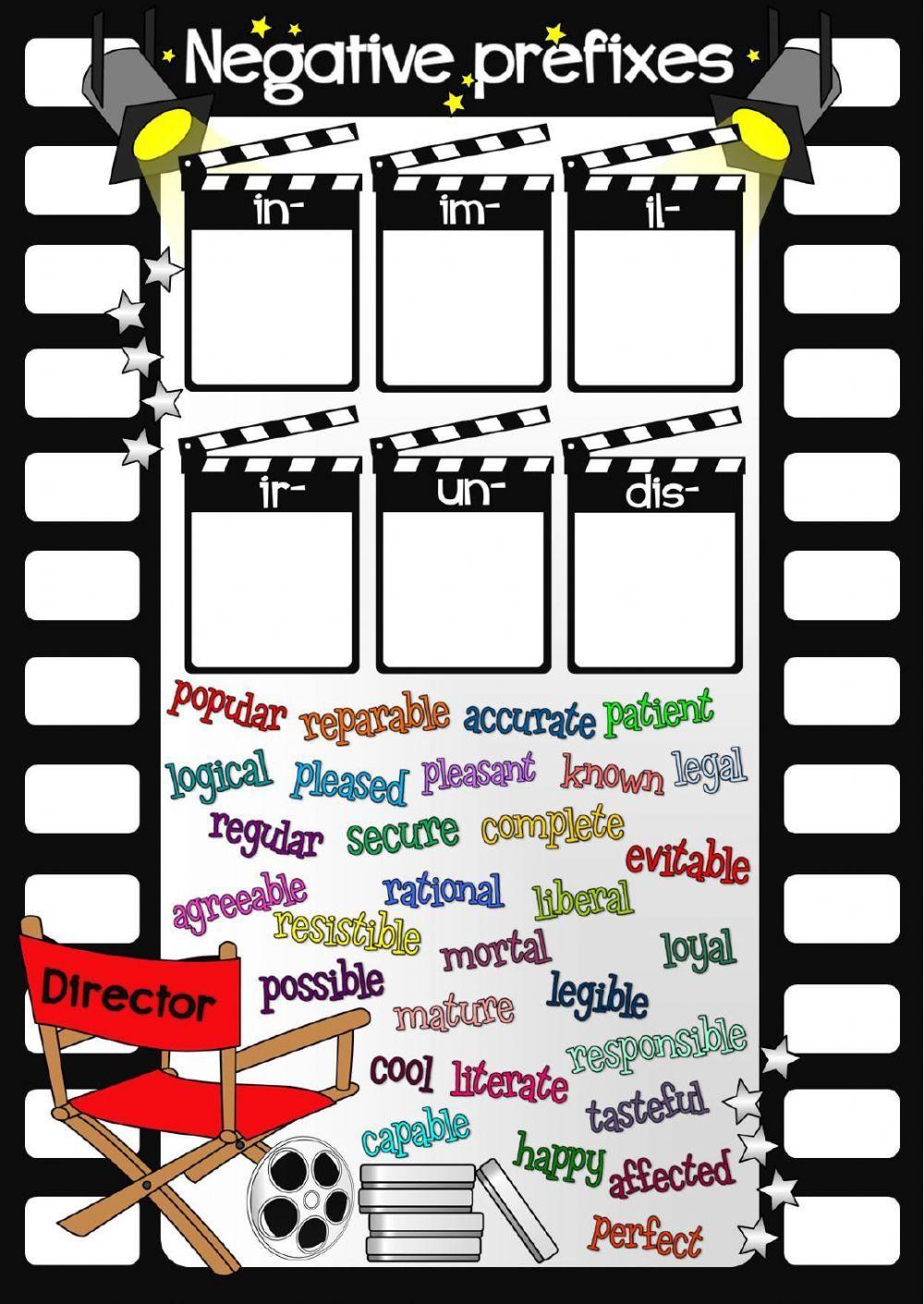 Negative prefixes interactive worksheet esl interactive negative prefixes interactive worksheet robcynllc Images