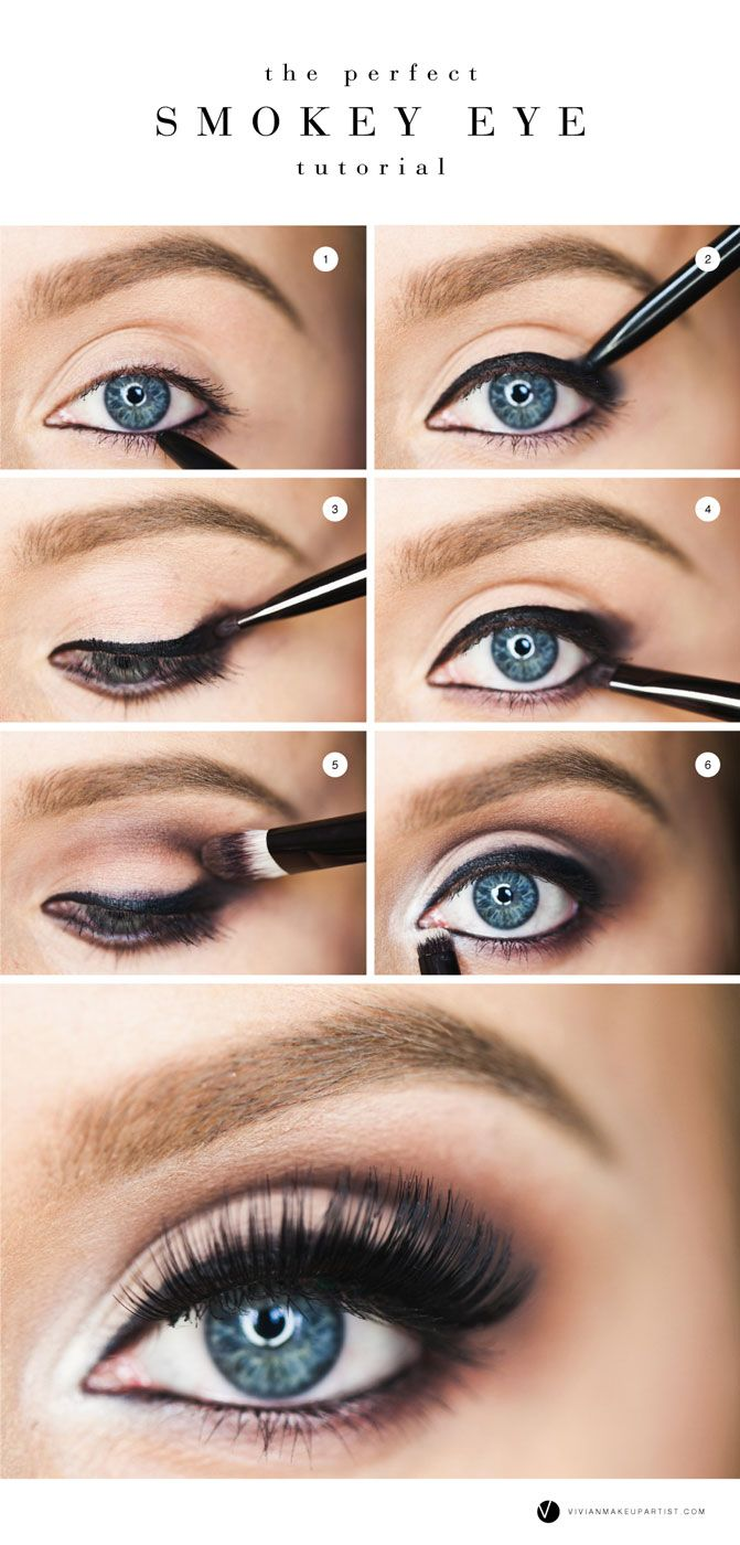 the perfect smokey eye | blue eye makeup, eye makeup, smokey