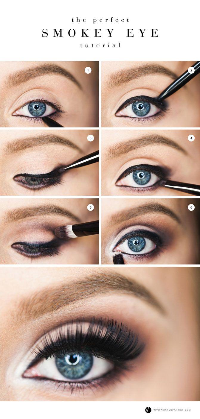 the perfect smokey eye | blue eye makeup, eye makeup, smokey