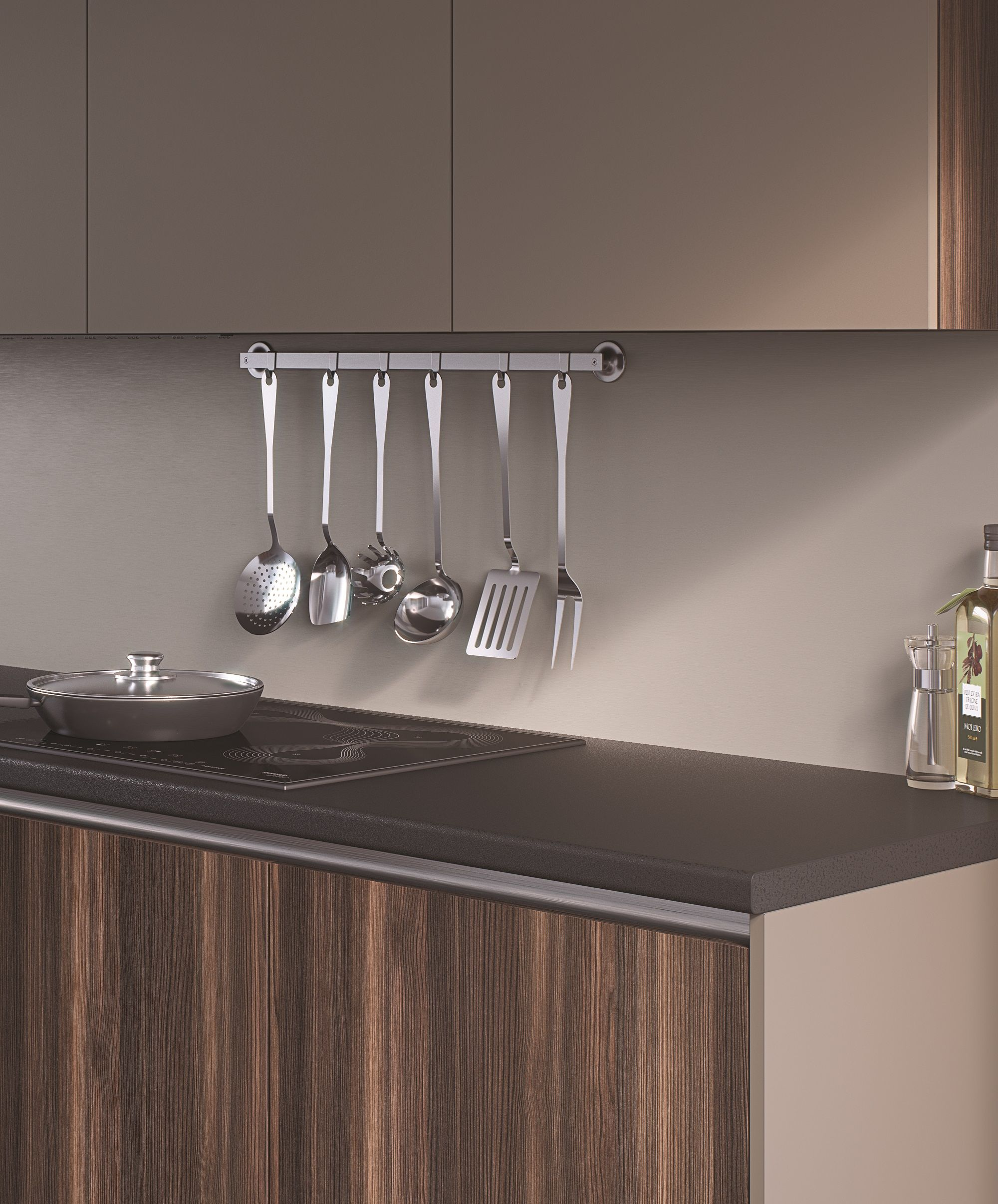 John Lewis Kitchen Worktops: EGGER Kitchen Worktop: U999 ST89 Black Dark Worktops