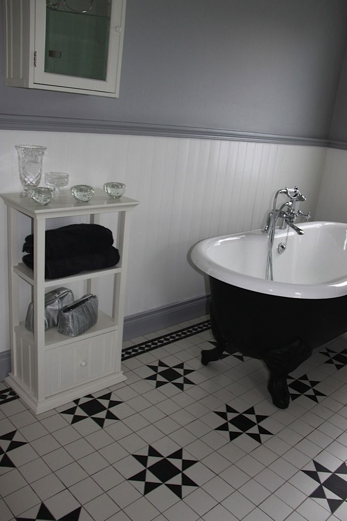 Amazing Black And White Victorian Bathroom Ideas Part - 12: Donard Black U0026 White Floor Design With Extra White Infill Tiles. Find This  Pin And More On Victorian Bathroom Ideas ...