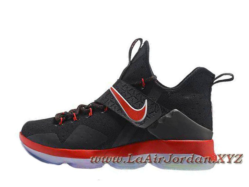 Nike Lebron 14 Noir Rouge Chaussues Nike Lebron Pas cher Pour Homme