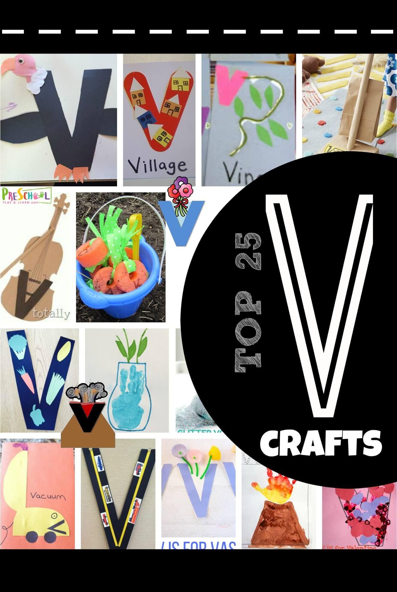 Top 25 Letter V Crafts