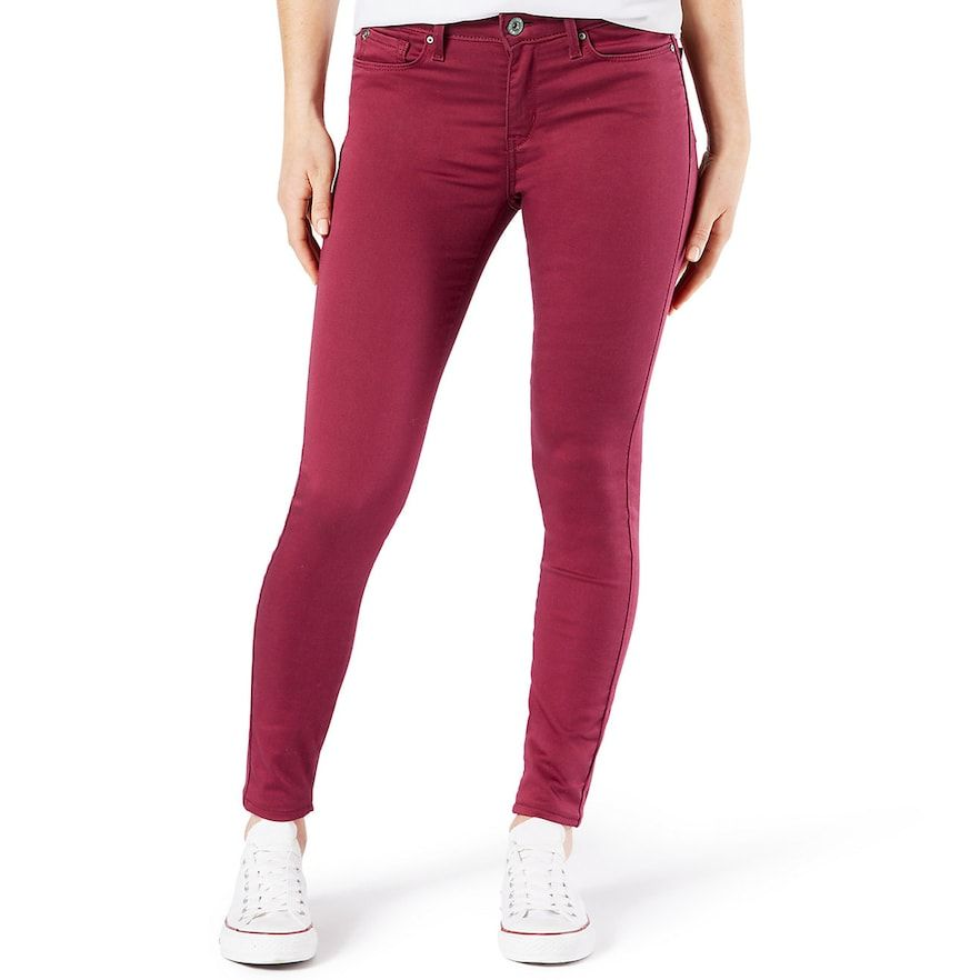 3ef0fc8a1756cb Juniors Womens DENIZEN from LEVI'S Juniors Denizen from Levi's Low Rise  Jegging, Girl's, Size: 0, Red