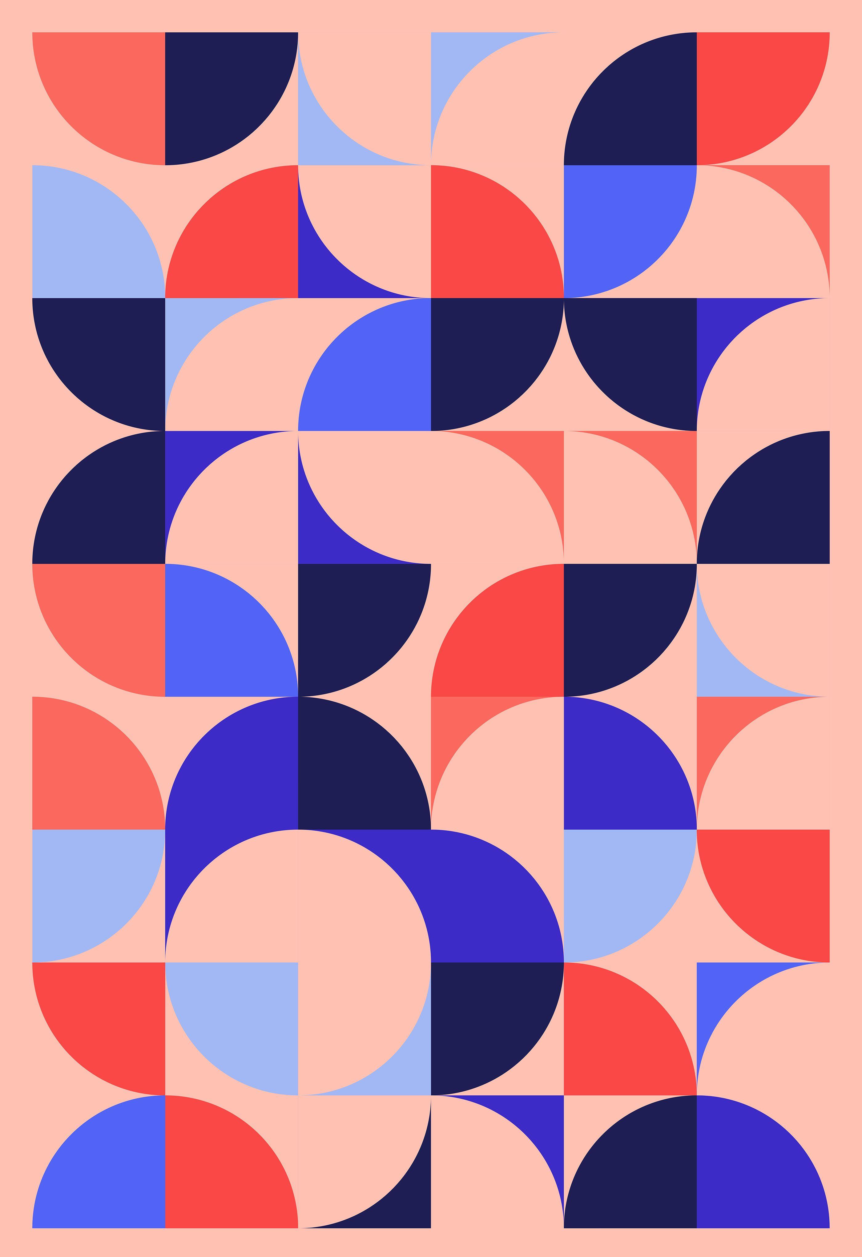 Geometric Design Series 5 On Behance Basic Shapes Design