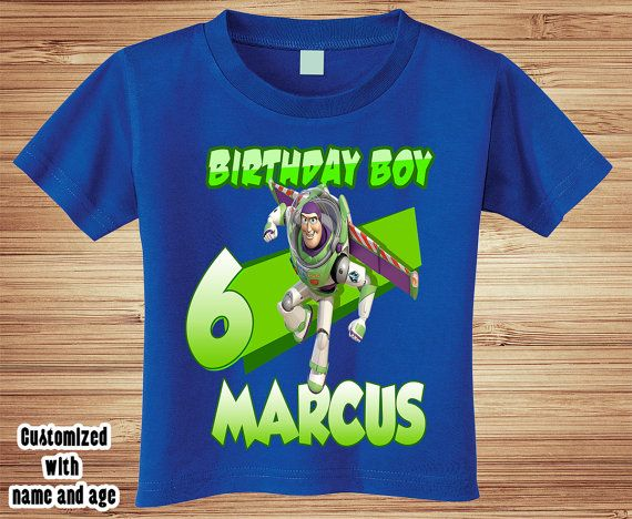 Personalized Buzz Lightyear from Toy Story T-Shirt