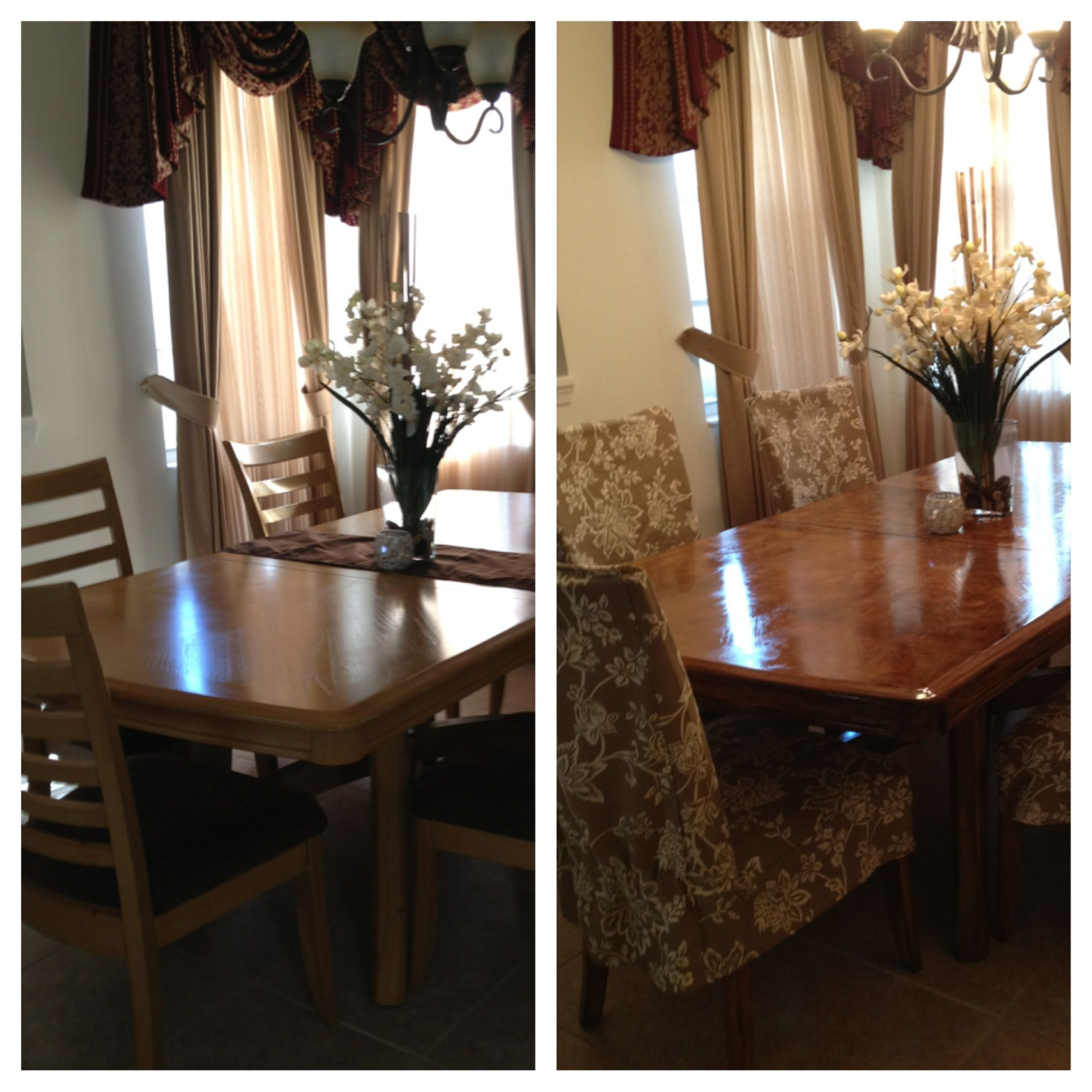 Refinished Dining Room Tables: Before & After, My Refinished Dining Room Table