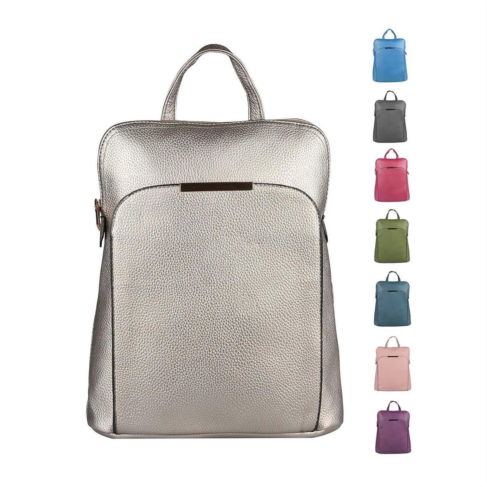 Dame Rucksack Rucksacktasche Cityrucksack als Schultertasche tragbar Backpack