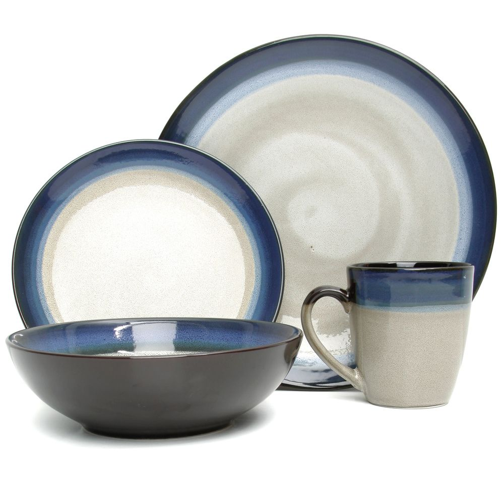 set elite overstock bands cream cabin shopping piece dinnerware blue gibson couture cabins pin
