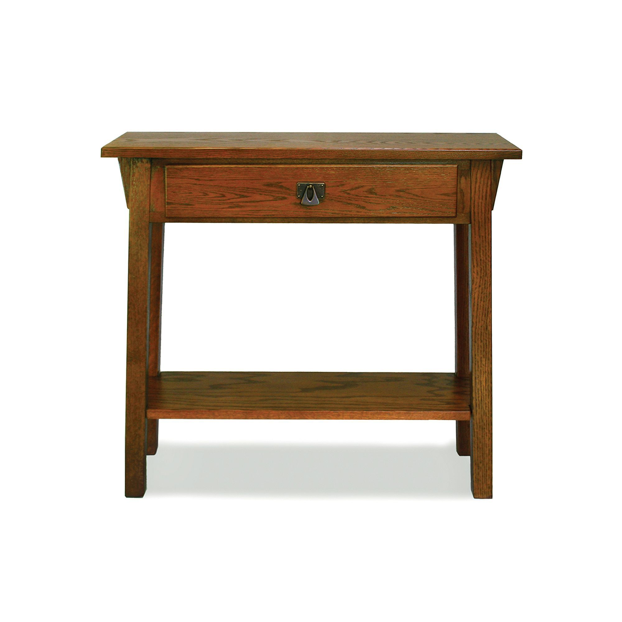 Leick Furniture Mission Console Table, Brown Furniture