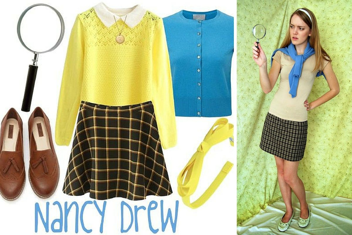 11 Creative Last Minute Halloween Costumes For Book Lovers Halloween Costumes For Teens Nancy Drew Costume Halloween Costumes Women