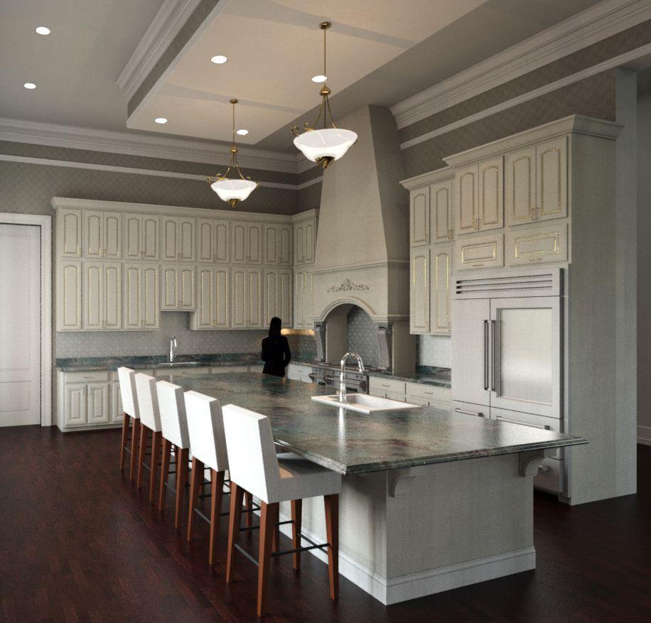 Hyper Realistic Architectural Kitchen Render. St. Louis Interior Designers:  Http://www.mitchellwall.com/