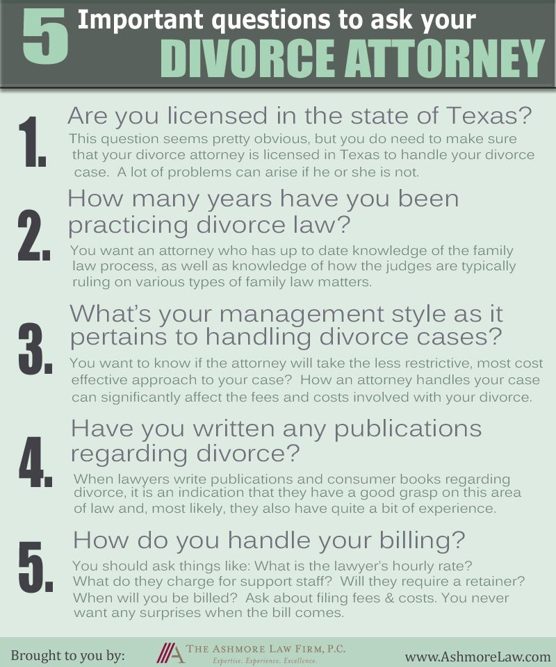 5 Important Questions To Ask Your Divorce Attorney Divorce