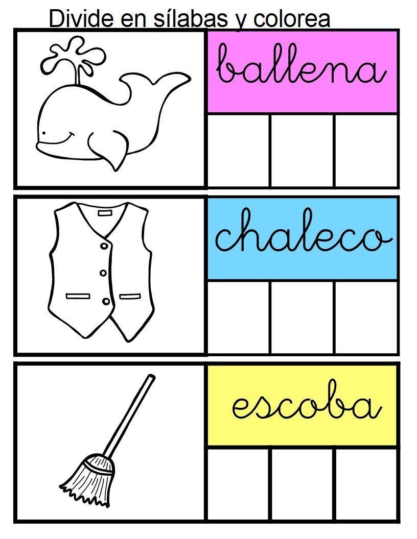 Segmentación Silábica Divide En Sílabas Y Colorea Orientacion Andujar Segmentacion Silabica Silabas Consonantes Y Vocales