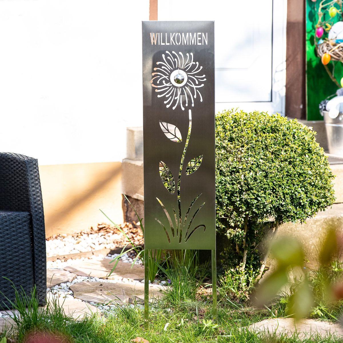 Steckschild Edelstahl Willkommen Gartendekoration Mit Spruch Gartenschild Garten Deko Gartenstecker Gartenschilder Gartendekoration Gartenstecker