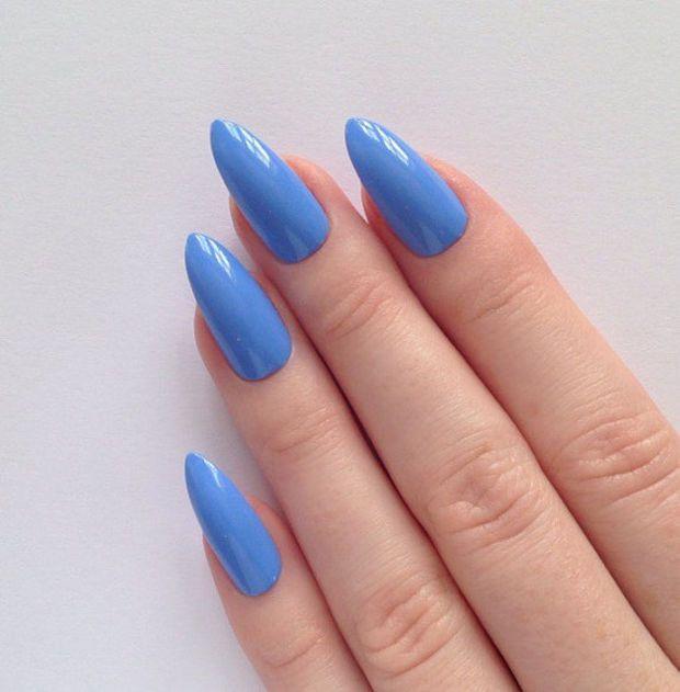 Periwinkle Blue Stiletto nails, Nail designs, Nail art, Nails ...