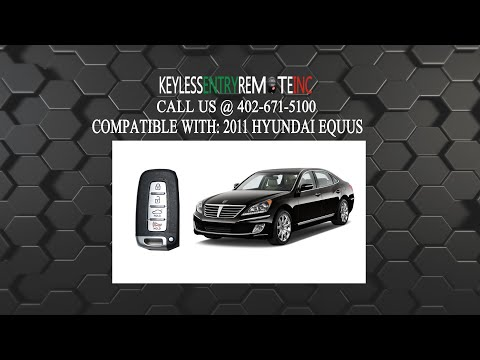 How To Change A 2011 2015 Hyundai Equus Key Fob Remote Battery