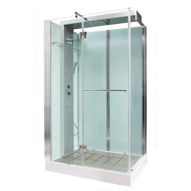 Cabine de douche hydromassante Noa 120 x 90 cm - Cabine de douche ...