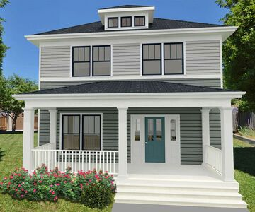 Rectangular House Plan with Flex Room on Main and Upstairs Laundry