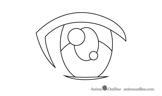 Female Anime Eye Secondary Light Reflection Anime Eyes Female Anime Eyes Female Anime