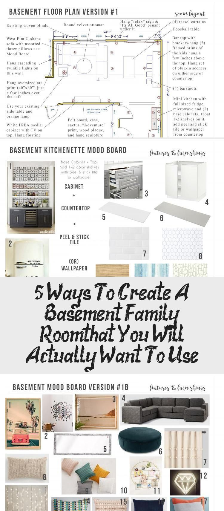 Order your room-inside-a-box, see inside at Postbox Designs, Interior E-Design: 5 Ways to Create a Basement Family Room You Will WANT to Use, Kid Hang-Out Space, Basement Family Room Ideas via Online Interior Design #interiordesignInteriorismo #Vintageinteriordesign #interiordesignSketches #interiordesignRetro #interiordesignWhite #interior design sketches floor plans