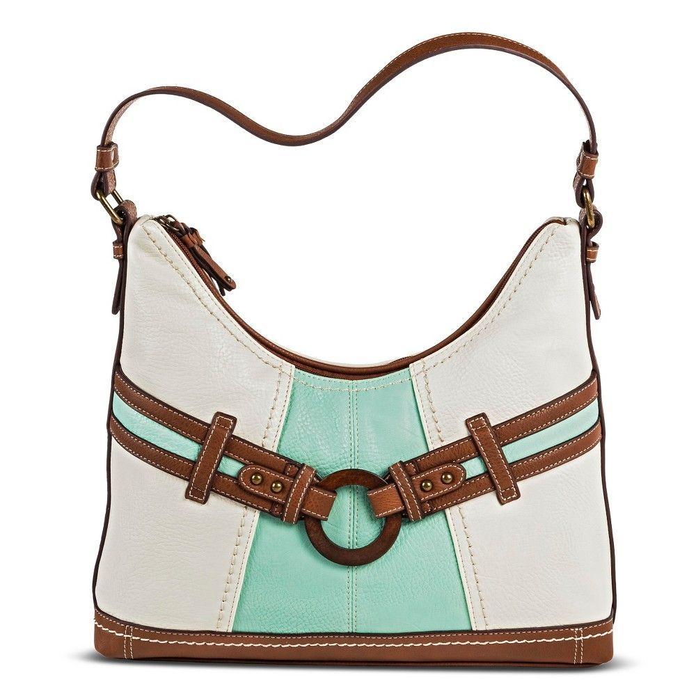 645180ef102e Bolo Women s Faux Leather Hobo Handbag - Bone Leather Hobo Handbags