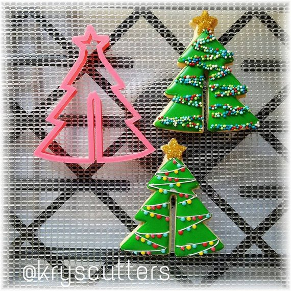 Christmas Tree Cookie Cutter for Cup Hanging Cookie Products in