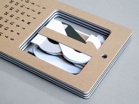 Present - Cut Out Numbers Calendar