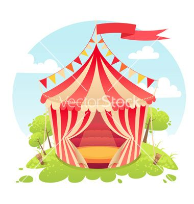 Cute cartoon tent show circus tent vector 2252355 - by Yuzach on VectorStock®  sc 1 st  Pinterest & Cute cartoon tent show circus tent vector 2252355 - by Yuzach on ...