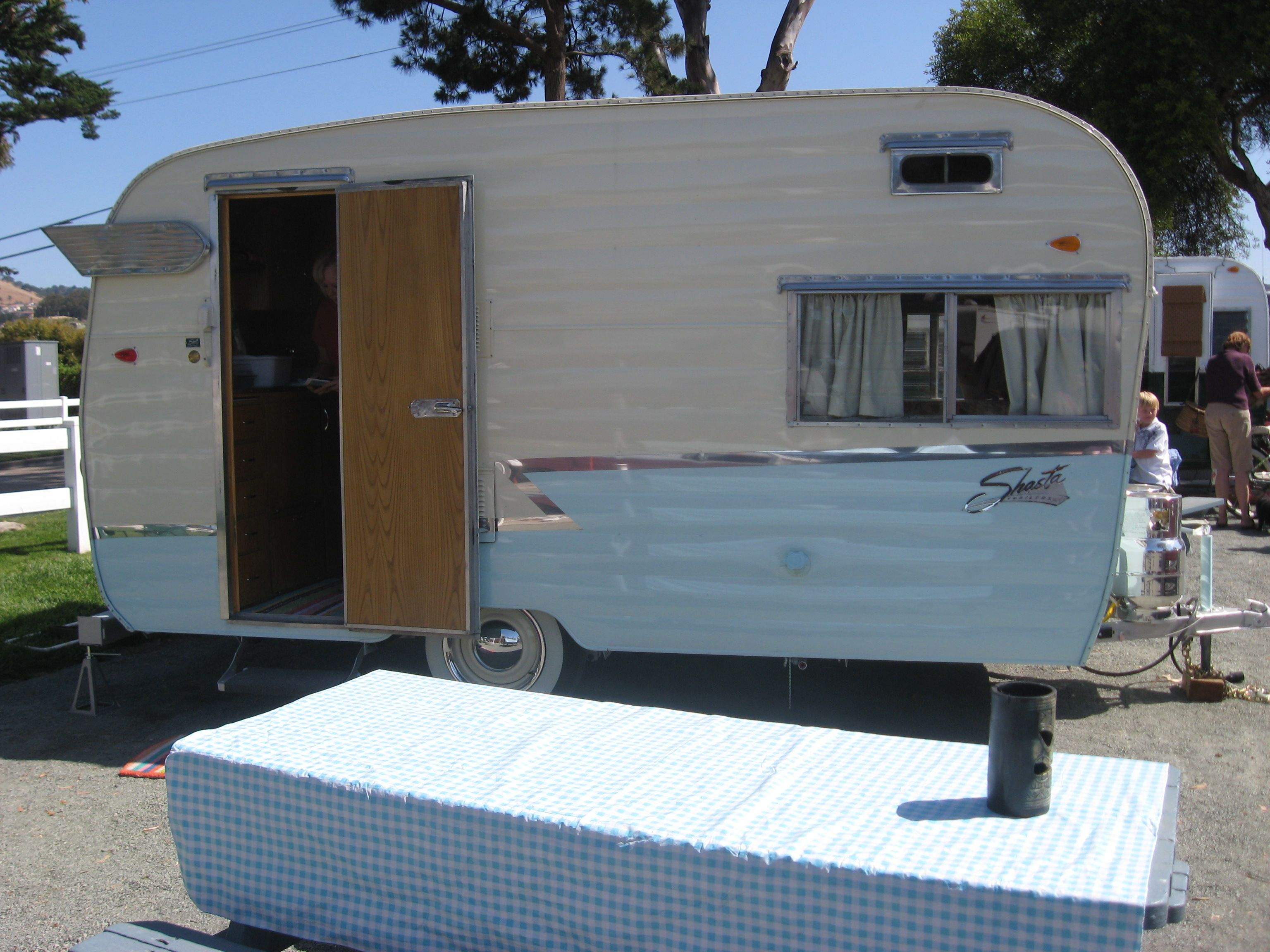 Our little tray tray hotcakes 1963 shasta 16scs awning by pink flamingo awnings vintage trailers pinterest vintage trailers and vintage travel