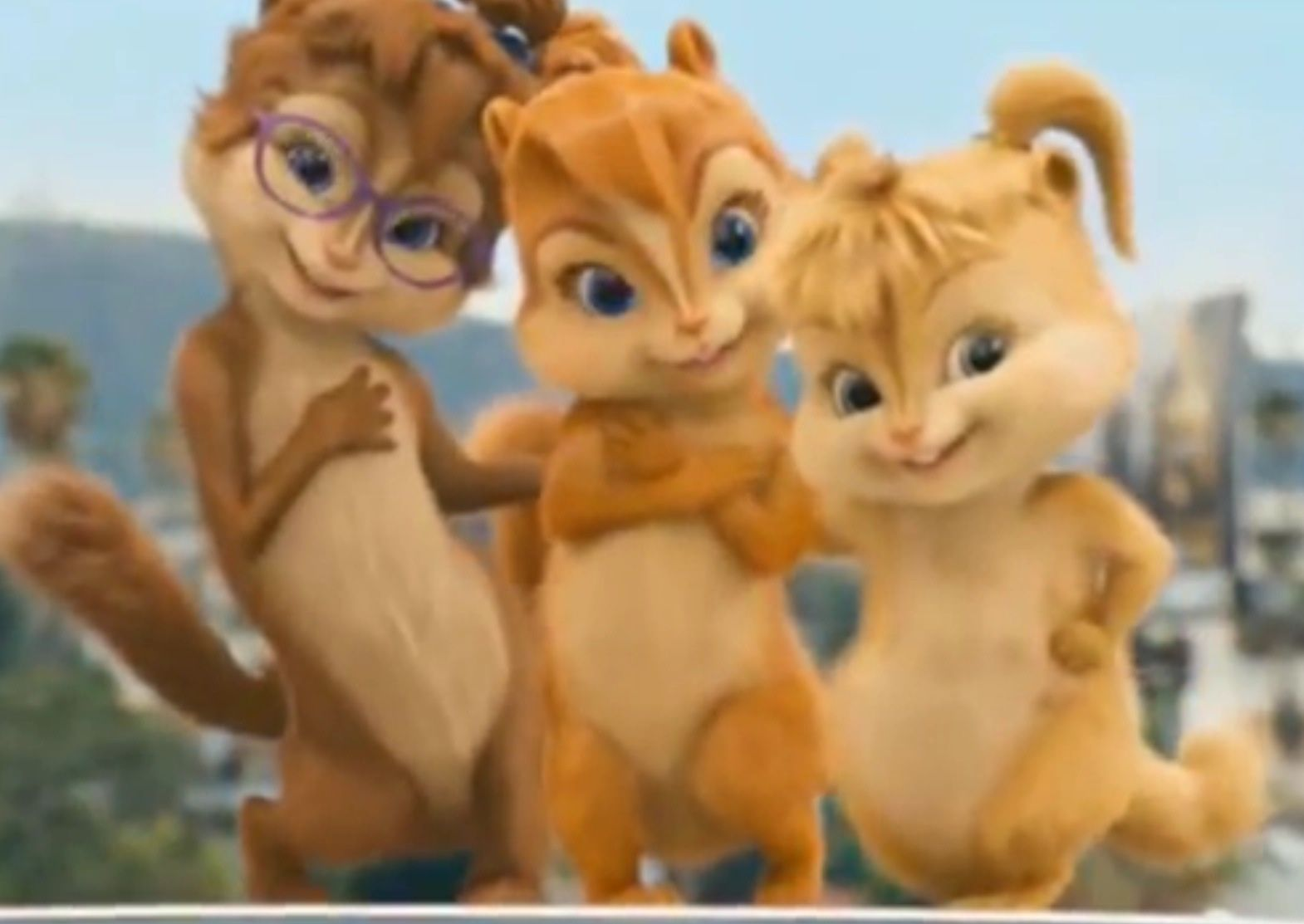 """Happy Birthday"" from the Chipmunks. Funny happy"