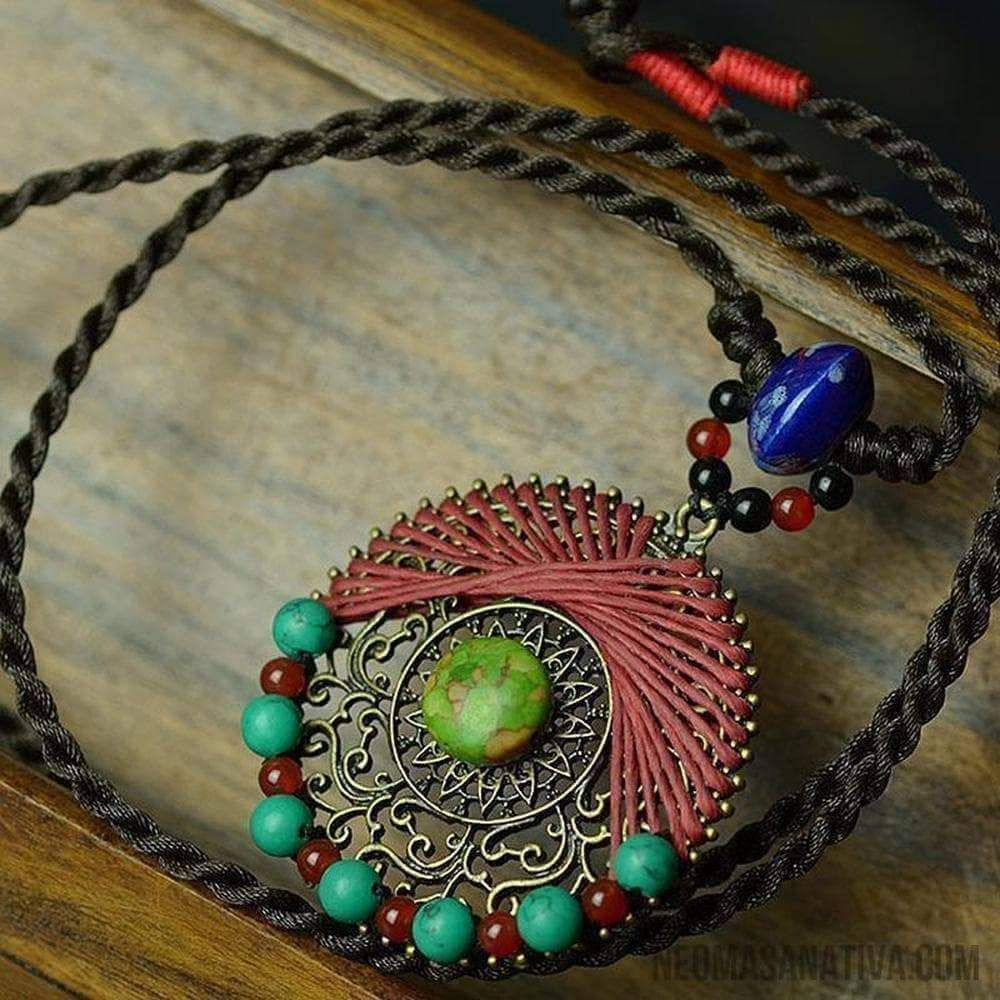 Brown & Turquoise Memory Wire Bracelet, Turquoise Wrap