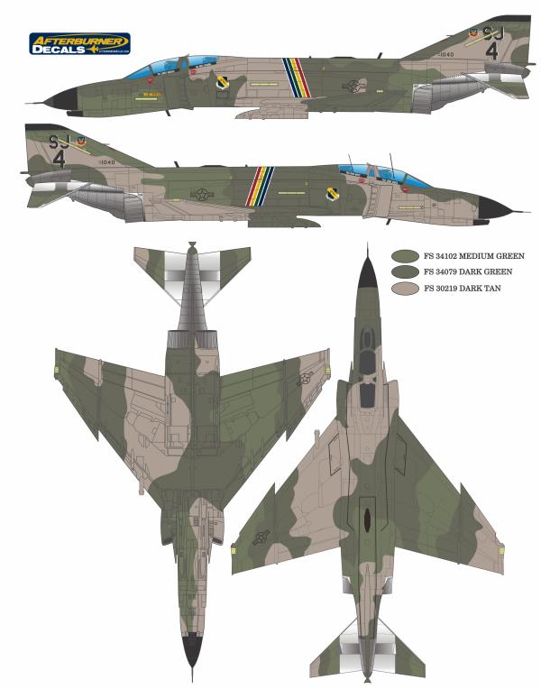 F-4C/D/E Phantom II Southeast Wrap-Around Color Profile and Paint ...