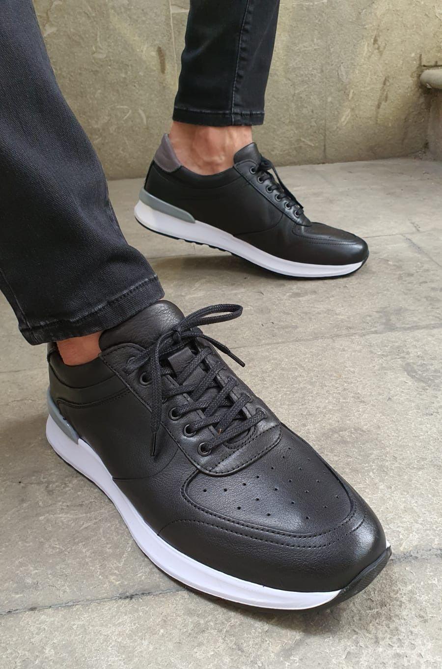 Buy Black Mid Top Sneakers By Gentwith Com With Free Shipping Mid Top Sneakers Sneakers Black Dress Shoes Men [ 1361 x 900 Pixel ]