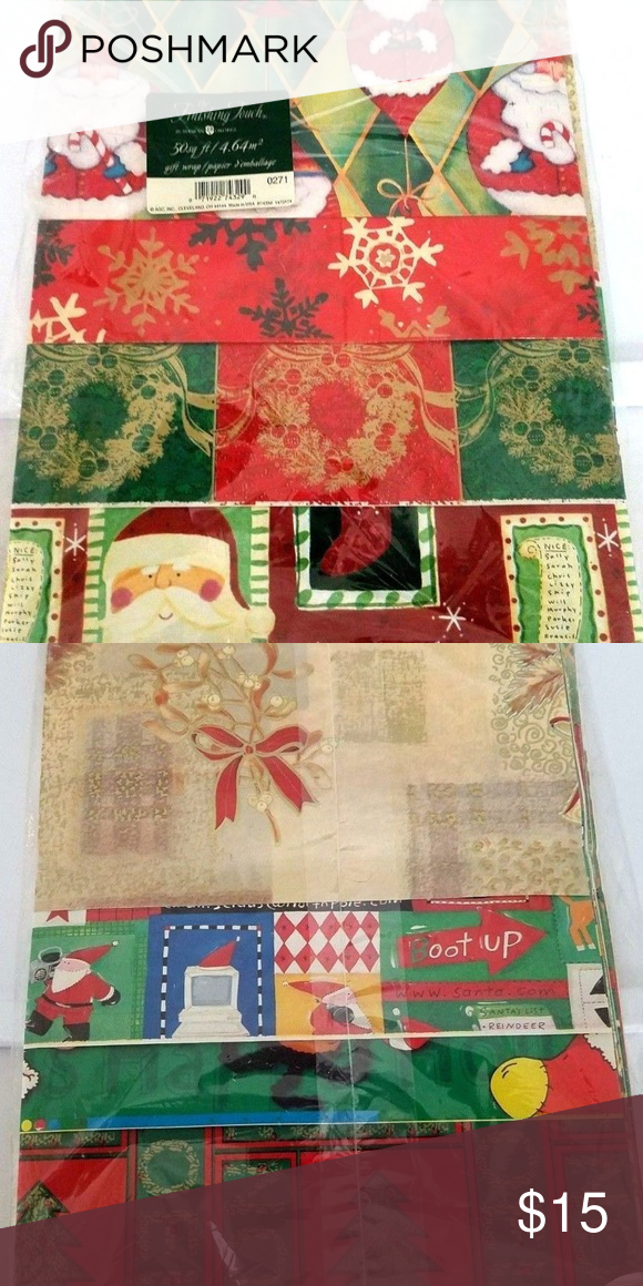 Vintage american greetings christmas paper rugrats nwt my posh vintage american greetings christmas paper rugrats new old stock 50 sq feet of american m4hsunfo
