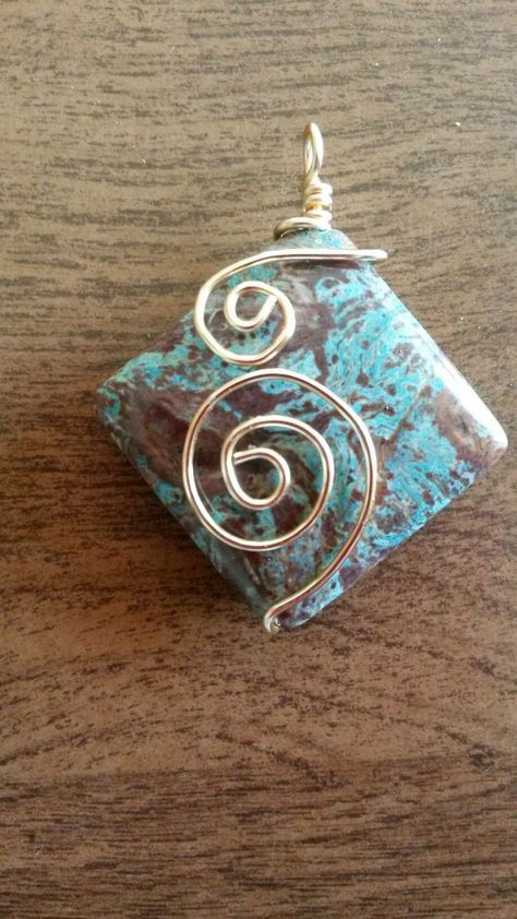 Photo of Wire wrapped pendant                                                       … #…