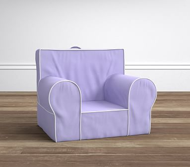 Lavender With White Piping Anywhere Chair 174 Pottery Barn Kids