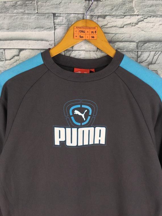 3e3252d52d275 Vintage PUMA Sweatshirts Sweater Small Puma Sport Big Logo 90s ...