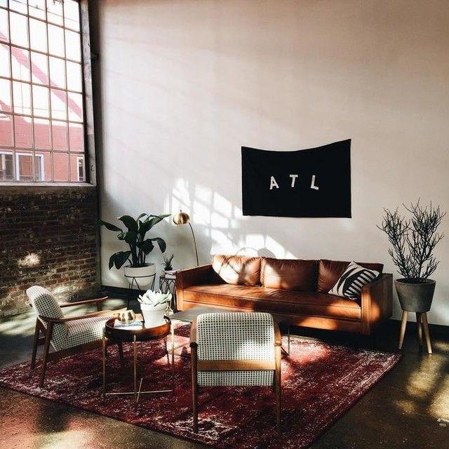 "Dome Home Interior Design: Axel Leather Sofa (89"") In 2019"