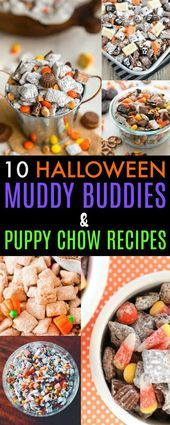 Any of these 10 Halloween muddy buddies and puppy chow recipes would make the pe Any of these 10 Halloween muddy buddies and puppy chow recipes would make the pe