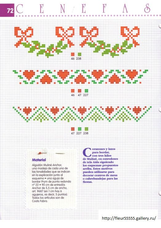 Christmas border patterns / chart for cross stitch, crochet ...